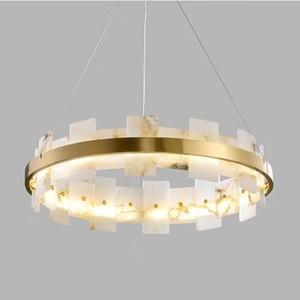 Marmo moderna rame dell'oro LED Lampadario di lusso decorazione dell'hotel del salone della casa lampada a sospensione Apparecchio di illuminazione PA0620