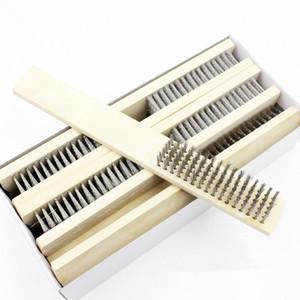 Щетка стальной проволоки деревянной ручки для промышленных приборов поверхностная / внутренняя полируя Меля щетка чистки Ф20174082