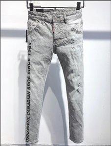 TOP Unique Mens Vintage Wing Embroidery Jeans Fashion Designer Straight Leg Slim Fit Denim pants Hip Hop Trousers