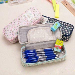 Multi-função de Grande Capacidade Caso fresco Canvas Retro Lápis Estilo Zipper Bag Lápis Student papelaria presente do armazenamento Gift Bag