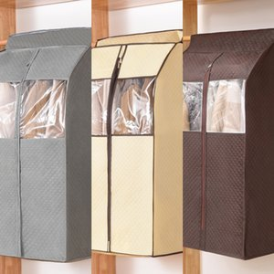 IDM7c Three-dimensional dust cover clothes household suit transparent down jacket dust cover coat hanging Down jacket Storage storage bag ba