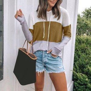 Damen Hoodies Sweatshirts Frauen Patchwork Pullover Sweathirts Herbst Mode Tops Damen Weibliche Beiläufige Lose Streetwear für