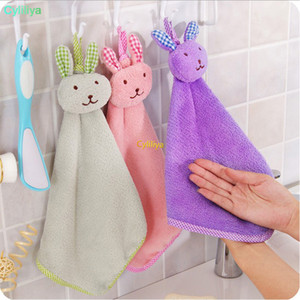 New towel Coral velvet rabbit modeling towel kitchen wipes cartoon clean Towel Wipe the cloth