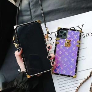 Neueste Designer-Telefon-Kästen für iPhone 11 Pro XR XS Max 8 Samsung Galaxy S9 Note9 S10E S10 note10 Plus-Kasten mit Lanyards