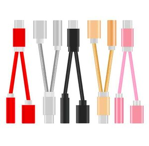 2 en 1 Tipo C a 3,5 mm jack de audio cable aux Usb C a tipo C Mujer cables de carga de cables para Samsung Huawei Letv Android teléfono