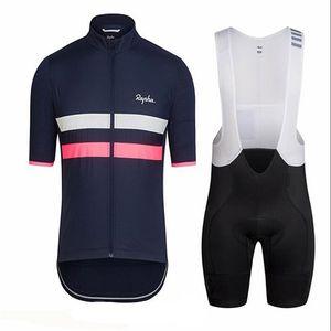 2019 RAPHA Team Summer Cycling Abbigliamento Uomo Set Mountain Bike Abbigliamento Bicicletta traspirante Indossare maniche corte Ciclismo Jersey Imposta Y052721