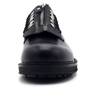 Style britannique Zip plateforme bout rond Chaussures Hommes Casual rétro hauteur croissante chaussures en cuir véritable de vache Chaussures Bureau officiel
