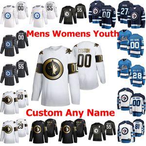 Winnipeg Jets Jerseys 20 Cody Eakin 12 Dylan DeMelo Patrik Laine Mark Scheifele Tucker Poolman 2020 All-Star Hockey Jersey personalizado costurado