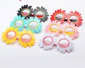 الأطفال النظارات الشمسية للأطفال عباد الشمس شكل إطار جولة مرآة نظارات الشمس الفتيات uv 400 الشاطئ الظل الملحقات الأطفال sunblock
