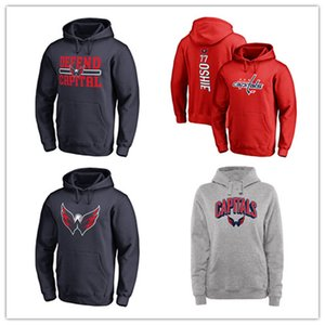 Men 's Washington Capitals 브랜드 70 # Braden Holtby Hoody 스포츠 자켓 # 77 TJ Oshie Red 아웃 도어웨어 Cool Hockey Hoodies printed 로고 18 19