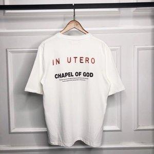 Neue kurzärmlige Co-Marke-Angel-Weinlese-Nirvava Kanye-Nebel Casual Vintage Kanye T-Shirt Ewmio