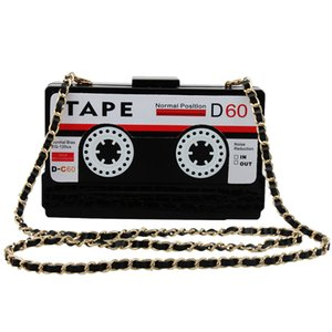 2020 new European and American fashion acrylic tape-dinner clutch bag shoulder diagonal Ms. package a generation of fat