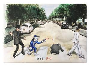 Otto Waalkes - Ebbi Rot Udo dipinto a mano HD Stampa della parete di arte olio su tela di canapa per la casa Multi opzioni di formati