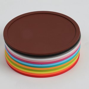 Silicone Coaster Non-Slip Table Mats Round Cup Pad Heat Resistant Silicone Placemats for Cafe Kitchen Restaurant HHA913