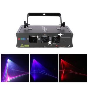AUCD 3 렌즈 RGB 레이저 스캔 빔 라인 조명 DMX 사운드 자동 프로젝터 램프 DJ 파티 쇼 홈 전문 무대 조명 H-Q6