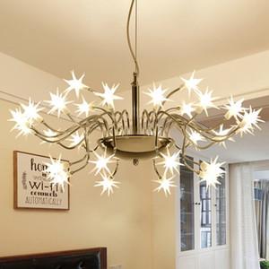 Исследование Starry Sky LED свет подвеска Современные светодиодные лампы Starlight Ice Flower Подвеска лампы для Parlor Bar Hotel Домашнее освещение