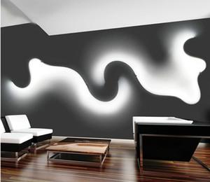 الشمال LED مصباح الجدار أبيض أسود الإبداعية أدى الجدار ضوء غرفة المعيشة السرير نوم الداخلية الممر ديكور المنزل الإضاءة فيديكس للشحن