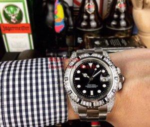 4 модели Горячие мужские часы 40 мм 116610 116619 116613 116610LV нержавеющей стали Алмазный границы Дата Азии 2813 Механические Автоматические Мужские