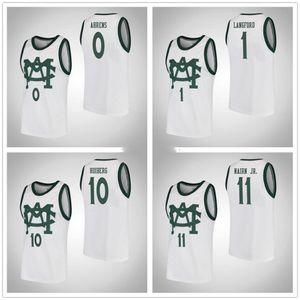 Michigan State Spartans College #0 Kyle Ahrens #1 Joshua Langford #10 Jack Hoiberg #11 Lourawls Nairn Jr. Баскетбольные Майки Мужские Сшитые