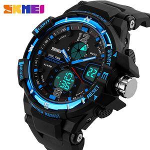 2019 SKMEI G Estilo Moda Digital-Watch Mens relógios desportivos Exército Relógio de pulso Militar Erkek Saat Choque Resista relógio Quartz Assista