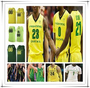 Personalizzato 2020 Oregon Ducks pallacanestro Jersey College di Payton Pritchard Chris Duarte Will Richardson Shakur Juiston Anthony Mathis Dante 4XL