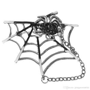 Broches araignées noires émaillées araignées punk rock Toile en forme de broche corsage chandail collier clip aimants broches animaux broches