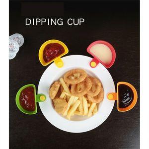 Clips Dip Trempage Porte-sauce BBQ alimentaire Ketchup Ranch bleu Vinaigrette Détenteurs Crate vinaigre de tomate aux épices Assiette Bol Cont