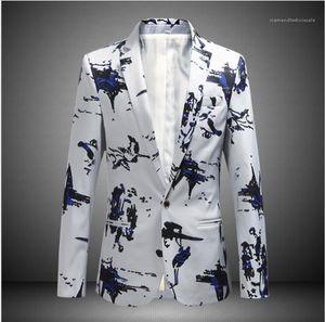Designer Blazers Plus Size Print Coat Fashion Slim Fit Suits Spring Autumn Male Clothing Mens 2020 Luxury