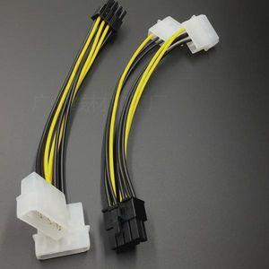 200pcs Двойной 4 Pin Molex IDE Мужской 8 Кабельный адаптер контактный разъем PCI-E Y Molex IDE питания для соединителя GPU видеокарт
