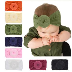 INS bébé filles Knot boule cheveux bande Bohemian bébé Turban Nylon Bandeaux Bandeaux enfants en bas âge en nylon tête Wrap cadeaux de fête Brithday Vente D3502