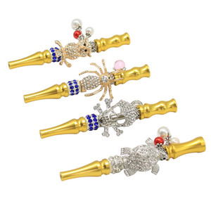 110MM Alloy Hookah Mouth Animal Shaped Diamond Arab Shisha Narguile Filter Hookah Accessories Tips