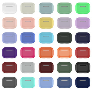 36 цветов Ультра тонкие мягкий силиконовый чехол для Apple airpods про тонкого футляр наушника мешок для airpods 3 беспроводных Bluetooth наушников TPU крышки