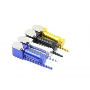 Kapak Boru Duman Dedektörleri ile Sigara Boru 90mm Alüminyum Alaşım Metal Taşınabilir Borular Tütün Sigara Aksesuarları OOA6316-1