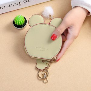 Studentin Geldbörse Maus Ohr Brieftasche Runde Mini Schlüsselanhänger Tasche Schöne Lila Schwarz Praktisch 8 5qm C1
