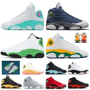 Nike Air Jordan Retro 13 13s Stock X 10 10s Westbrook Classe de 2006 blanc Woodland Camo Tinker-Racer acier bleu gris Hommes Chaussures de basket-7-13