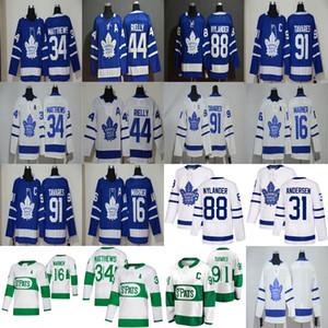 Toronto Maple Leafs Jersey 34 Auston Matthews Jersey 16 Mitchell Marner 31 Frederik Andersen 88 William Nylander Ice Hockey Jerseys Stitched