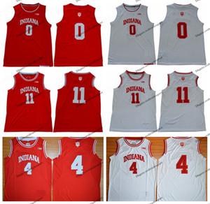 Mens Indiana Hoosiers 2019 Romeo Langford 0 Isiah Thomas 11 Victor Oladipo 4 대학 농구 저지 홈 red vintage stitched Shirt