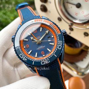 james bond di alta qualità 007 orologi Planet Ocean GMT uomini lo sport orologio da polso Aqua Terra di mare orologi Seamaster maestri mens orologio Omega D4400