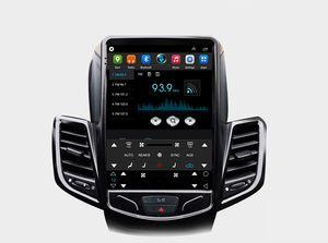 블랙 테슬라 수직 화면 포드 피에스타 Fiesta ST 2009-2015 년을위한 차 멀티미디어 멀티미디어 GPS 라디오 스테레오 오디오 4G wifi