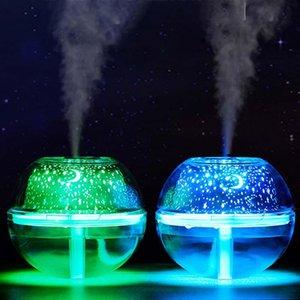 Brelong Usb cristalino colorido humidificador proyección dormitorio interior lámpara luz de la noche Pareja ambiente luminoso multicolor Rgb