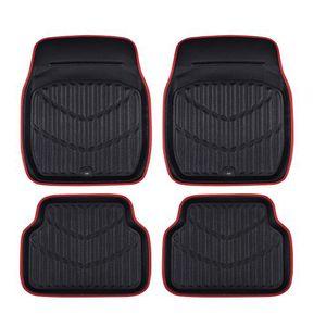 Mat Rojo Negro Floor Mats coches Car Styling Interior Auto Tapetes