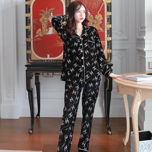 Herbst und Winter Pyjamas der Frauen Frühling koreanisches Gold Samt lose Art und Weise mit langen Ärmeln Strickjacke außerhalb home service Anzug b getragen werden