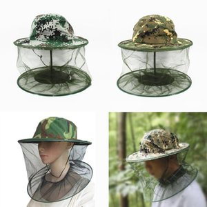 15PCS imker face camouflage net bee keeping cap head cover veil imker bees hat-for-fishing protective netting mosquito outdoor