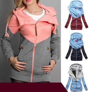 Women Oversize Hoodies Sweatshirts Pullovers Hoodie Female Patchwork Sweatshirt Autumn Casual Warm Hoody Zipper UP Tops S-5XL