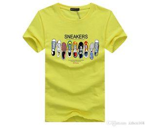 Femmes 2020 Vêtements de créateurs de luxe baskets Pure Color Print design Marque Hommes Femmes Designer T-shirts manches courtes O Neck tees tops