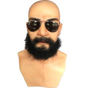 Ücretsiz nakliye Cadılar Bayramı maskesi silikon adam yüz maskesi Ücretsiz nakliye insan silikon Cadılar Bayramı