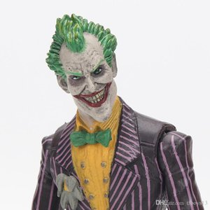 Yepyeni Oyuncak Bez Eylem Şekil PVC Doll Koleksiyon Oyuncak 18cm İntihar Ekibi Joker Halloween Malzemeleri ile Dc İntihar Ekibi Joker Şekil