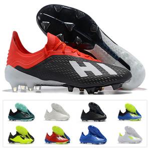 Sıcak Erkek Futbol Ayakkabı X 18.1 FG Futbol Düşük Ayak Bileği ace 18 + x 18 + Dantel-Up Salah Açık Çizmeler Cleats Boyutu US6.5-11
