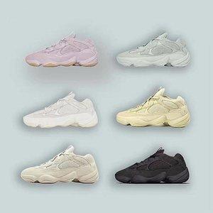 2020 soft Sneakersyezzyyezzys500 vision stone desert rat 500 kanye running shoes bone white utility black salt super mooygof#