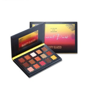 Beauty Glazed 15 Color Sunset Dusk Eye Shadow Highlighter And Matte Collection Makeup Eyeshadow Bronzer Palette